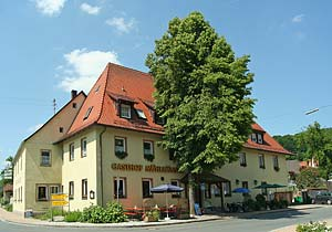 Gasthof Mühlhäuser, Pension in Wannbach bei Pretzfeld, Fränkische Schweiz